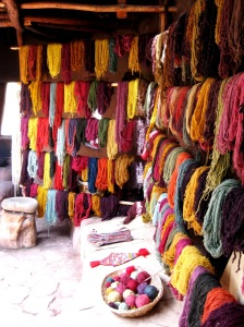 Textiles in Peru. So colorful!
