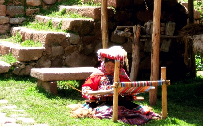 Weaving in Cusco, Peru