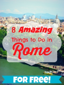 8 Amazing Things to do in Rome--For FREE | via The Wandering Blonde