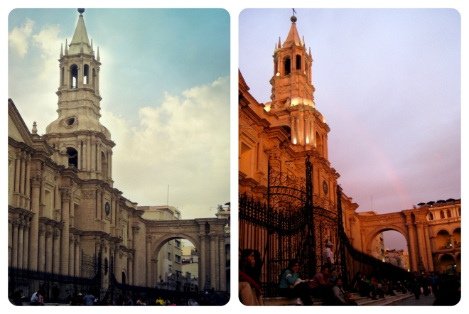 Arequipa, Peru is beautiful by both day and night
