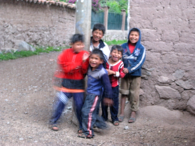 Young boys in rural Peru