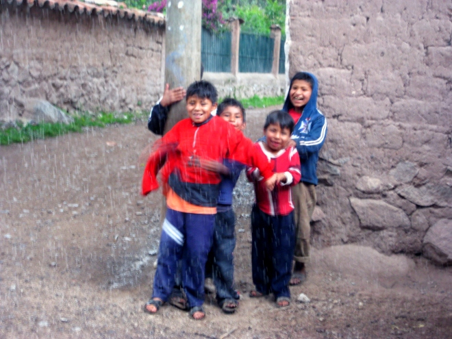Young boys in Peru